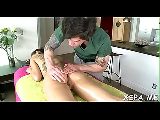 Sexy sweetheart is feeling a massage