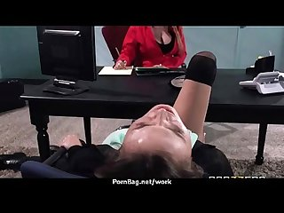 Big tits cutie fucks her Coworker in their office 8