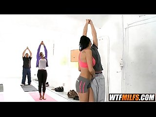 Yoga milf gets fucked hard by students persia pele 2 002