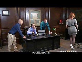 Sexy wild milf loves rough sex at work 27