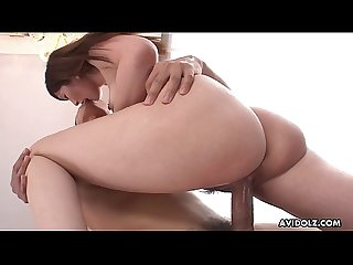 Japanese brunette, Kotone Amamiya fucks in a hotel room, uncensored