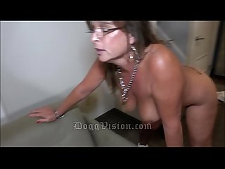 50y MILF Cougar Jules Tattoo Split Roast