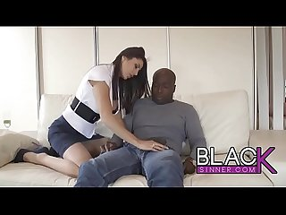 Sofia Cucci cheating on her husband with a black worker