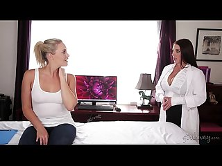 Huge natural tits seducing the lesbian worker mia malkova angela white