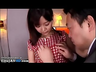 Japanese young secretary fucked by horny boss