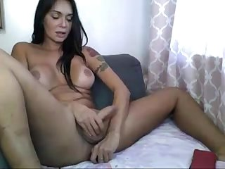 Latina Shemale Stroking and Toying - www.freeporntube.online