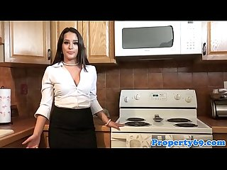 Doggystyled realtor beauty dickriding client