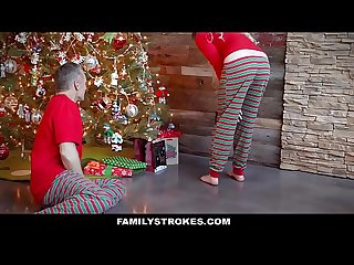 Familystrokes fucking my stepdad on christmas morning