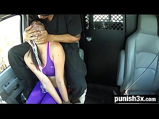 Miko dai S running injury turns into outdoor rope bondage comma deepthroat bj comma rough sex