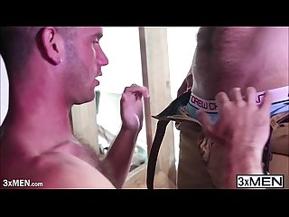 Blonde hair jimmy fanz Drill landon mycles straight in his tight whole fat ass