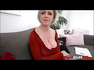 Big Tits Blonde MILF Step Mom Pleasures Her Son's Big Cock POV