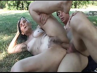 Slutty hairy granny viviana fucks under the tree kata viviana malvira