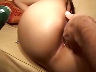 Asian girl fuck with three man