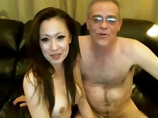 Older man suck on webcam