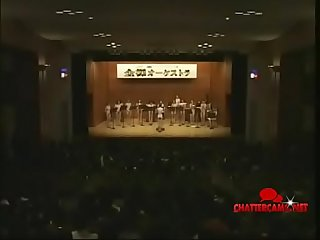 Orchestra of Naked Japanese Asian Teens