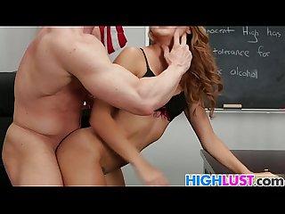 Schoolgirl Marina angel gets drilled