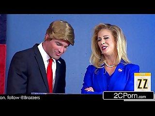 Donald drumpf shuts up hillary clayton lpar cherie deville rpar with his cock