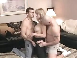 Amateur bi party 4 men 1 lucky woman