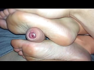 Sleeping footjob with huge happy ending excl