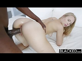 Blacked dakota james first experience with big black cock