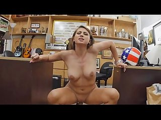 Stupid big titty blonde ivy rose doggystyled on office floor