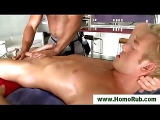 Gay straight oil massage blowjob