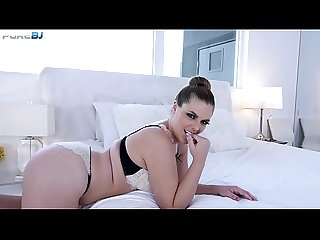 American babe Kendra Lynn gives Pov blowjob