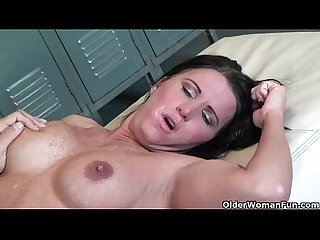 Busty milf kendra secrets gets fucked in locker room