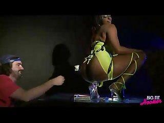 Ebony hooker rides dick