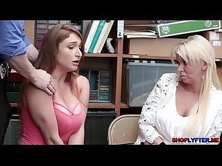 Blonde thief skylar fucked infront of her mom
