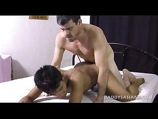 Daddy fucks asian Twink benjie