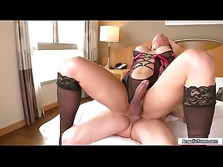 Hot TS latina gets fingered n barebacked
