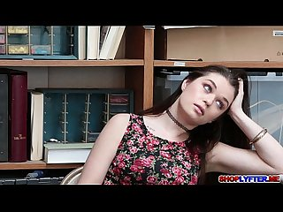 Pretty babe anastasia rose fucked in the office