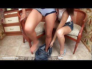 Two hot brunettes raina and ayane have fun in the kitchen by sapphic erotica