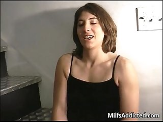 Hot and horny mommy fucks some black