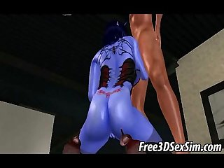 Sexy 3d cartoon avatar alien sucking on A hard cock