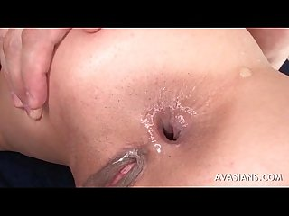 Asian Teen Gets Her Asshole Gaped Wide Open