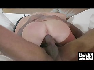 Stuffing gianna with my black cock
