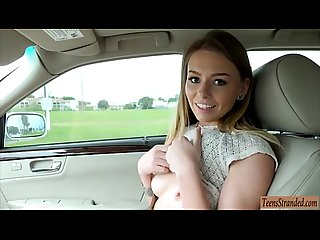 Sexy teen girl Alex Blake pussy pounded in the backseat