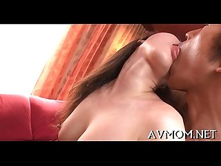 Lengthy shaggy asian deepthroat action