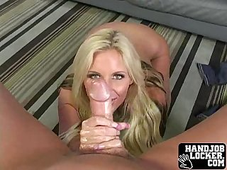 Blonde chick loves to taste cock