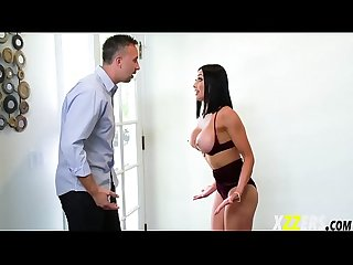Audrey bitoni her sick husband while fucking around
