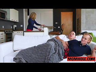 Teen and Milf duo Bailey Brooke and Cory Chase bang teen dude