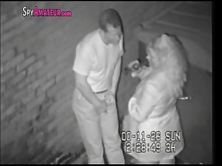 Hidden camera caught horny couple in alley on spyamateur com