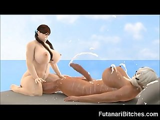 3d futanari monster cock cumshots excl