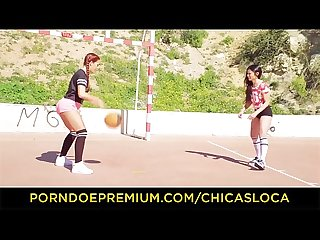 Chicas loca hot lesbian sex in the locker room with latinas gala brown jade presley