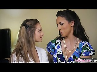 Mom Knows Best - (Jelena Jensen, Kimmy Granger) - milf makes shy teen eat her out..