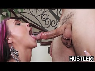Anna Bell Peaks earns cum in mouth with wild cowgirl action