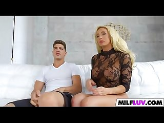 Stunning blonde MILF gets it good