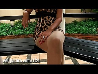 Thai model xanny does A Sexy Pantyhose leg Tease